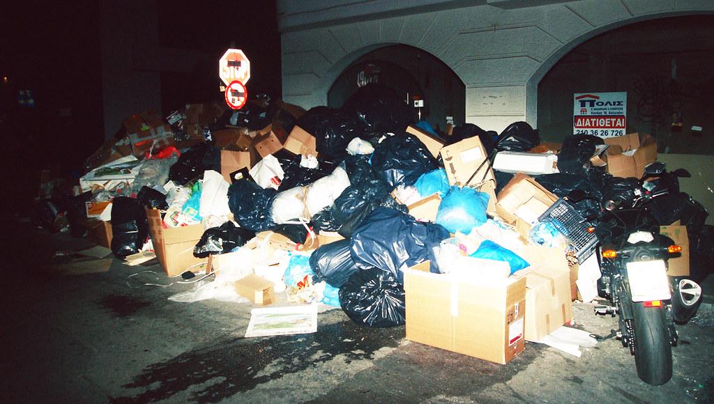 athens-garbage surpirse