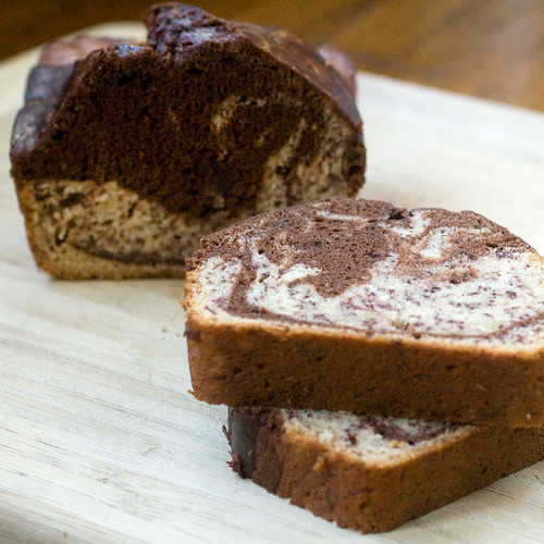 Banana Marble Loaf Slice