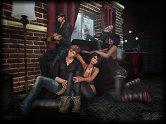 *ES* Hidden Soul Couch Prop - {I'll be there for you} (Trinetty Skytower) Tags: red love window digital pose photography model emotion avatar group sl couch secondlife virtual es prop essentialsoulstudio trinettyskytower