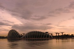 Gardens by the Bay (Andrew images) Tags: skyline clouds garden am scenery singapore colours cityscapes