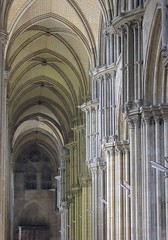 South Aisle (haberlea) Tags: france church architecture cathedral interior gothic medieval aisle rouen middleages hdr rouencathedral normandt southaisle