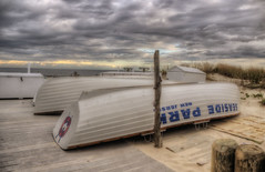 Crack The Sky (LennyNJ) Tags: newjersey nj jerseyshore hdr lifeboats seasidepark photomatix
