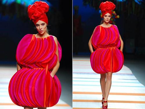 Agatha Ruiz de la Prada vestido ondulado