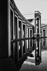 (BlackRockBacon) Tags: california camera reflection film water photoshop canon vintage 50mm blackwhite cityhall bayarea pleasanthill at1 ilford400