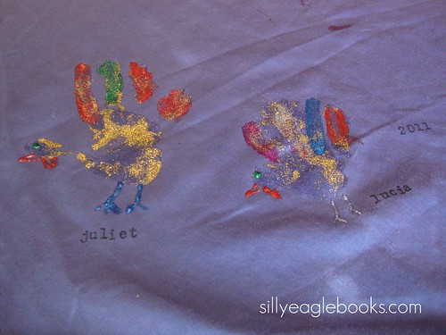 handprint turkey tablecloth