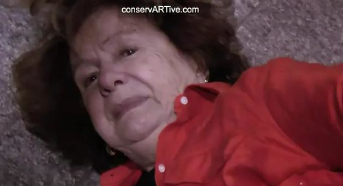 78 YEAR OLD WOMAN PEACEFULLY SHOVED DOWN FLIGHT OF STAIRS