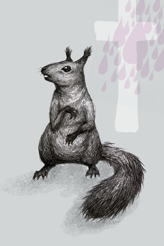 Worshipping squirrel