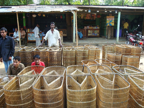 A fishing trap market, Sunamganj, Bangladesh. Photo by Balaram Mahalder, 2009