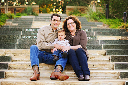family photo on steps good