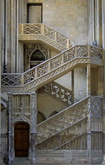 Staircase to the Library (haberlea) Tags: france church stairs cathedral library gothic medieval rouen staircase normandy middleages hdr rouencathedral