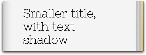 text shadow for bold