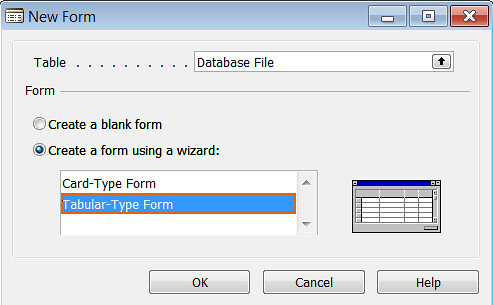 Database Size - New Form Database File