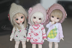 triplets! (Simmi.) Tags: by luna pixie bonnie piper triplets custom fairyland mitten ante andreja pukifee