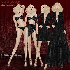 DNR Summer Donna Square Posters Black (designingnickyree) Tags: bikini dresses gowns sarongskirt nickyree slfashion resortfashion