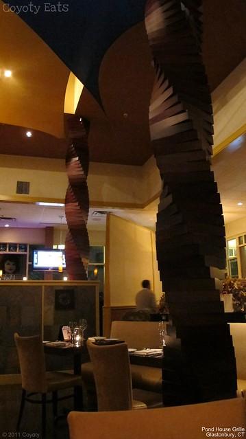 Pond House Grille columns