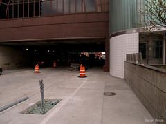 Open pit, no warning, no fencing (Steven Vance) Tags: walking construction downtown cta loop pedestrian sidewalk trainstation lasalle access transfer metra detour accessibility intermodal olympuszuikodigital1445mmf3556 gridchicago walkchi