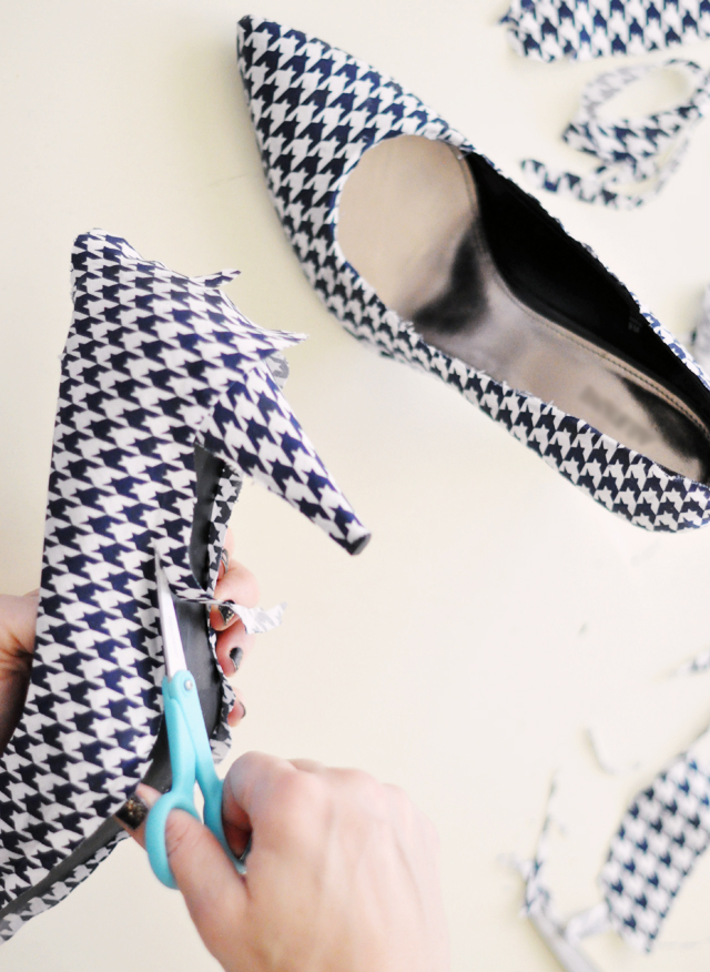 Houndstooth Shoes DIY - 24