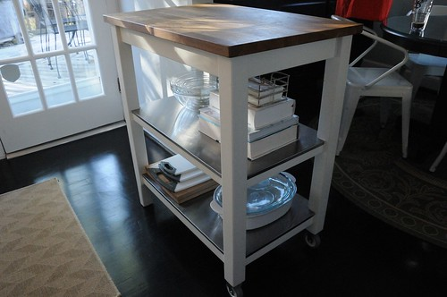 ikea kitchen island, butcher block