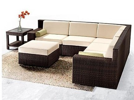 Tacoi 7-Pieced Rattan Sectional Sofa
