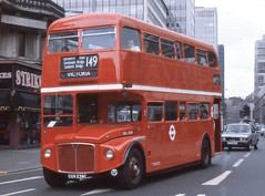 London Transport . RCL2239 CUV239C . Victoria Street , London . 11th-August-1980 . (AndrewHA's) Tags: bus coach victoria routemaster parkroyal londonbus londontransport aec route149 rcl2239 cuv239c