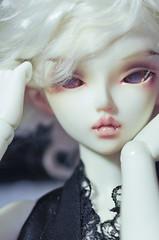 Black Velvet (kerrimaknolli) Tags: portrait sexy rose vintage photo doll handmade vampire chloe retro jewellery bjd fairyland vamp fee msd ws  minifee