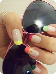 Francesinha Colorida (x_Jess) Tags: iris art nail borboleta hits arco colorida unha esmalte francesinha