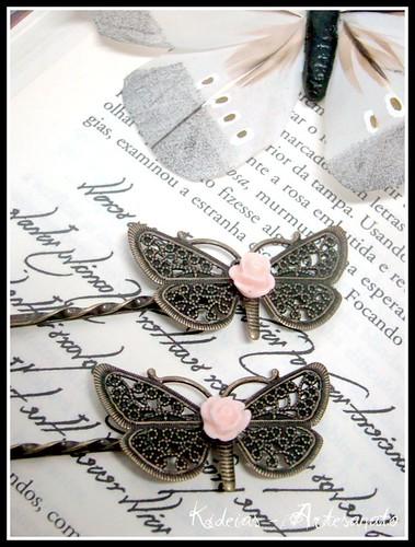 Ganchos borboleta by kideias - Artesanato