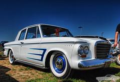 1963 Studebaker Lark (Chad Horwedel) Tags: white classic car illinois decatur studebaker custom scallop lark studebakerlark hunnertcarpileup stude 1963studebakerlark