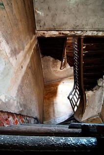 Broken Wooden Staircase