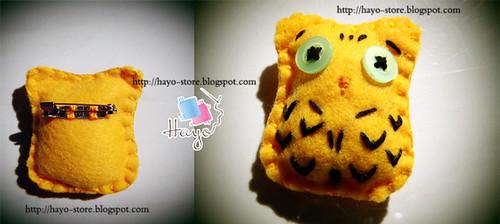 owl broch by Hayo.Shop