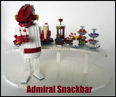 Admiral Snackbar (Lino M) Tags: star back lego return empire jedi sweets snacks wars admiral strikes lino ackbar snackbar itsatrap moncalamari ironbuilder