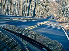 DSCF0960 (mistrvince) Tags: autumn trees driving shadows alabama foliage roads distance hunstville directionallight