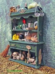 Miniature Powerful Witch Altered Green Hutch with Besom ~1/12th Scale (Enchanticals~ Death in Family) Tags: wood blue green glass glitter fairytale altered silver skull miniatures miniature hands key candles bottles furniture handmade witch painted magic books plastic fantasy handpainted curious marble hutch foundobjects collectible symbols etsy wizardofoz makebelieve broom enchanted spells crystalball pretend flyingmonkey scrolls wondrous mids besom 112th onetwelfthscale artistmade etsyteams dollhousescale faeteam enchanticals miniaturedollhousescale minitreasures enchanticalsetsy dollhouseitem diroamaitem