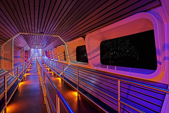 WDW - Starport Seven-Five - Space Mountain Queue (Todd Hurley Photography) Tags: longexposure vanishingpoint orlando florida space disney queue 1975 rollercoaster wdw themepark magickingdom spacemountain darkride day326 starportsevenfive