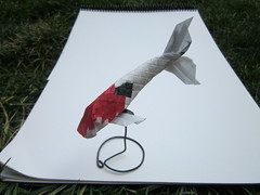 Koi (soozafone) Tags: origami scales koi kozo chigirie