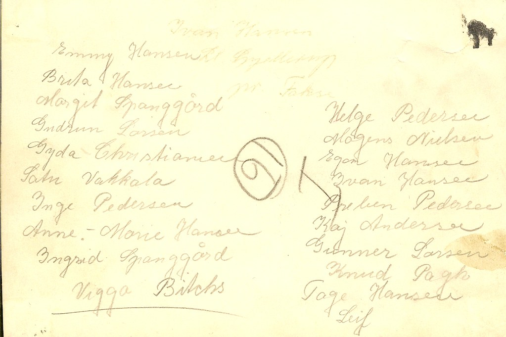 Navne på elever fra 1949