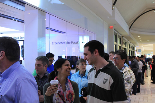 Microsoft developers queue up for the Windows 8 Preview