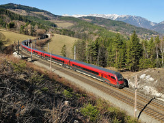 BB railjet | Kb - Eichberg 17.3.2012 (Richard Weber) Tags: train zug taurus bahn bb eichberg vlak oebb kb railjet semeringbahn