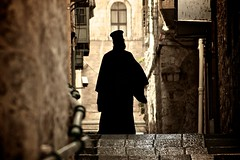 Lost in the Holy City (Antonio Vicaretti) Tags: street light pope black colour silhouette wall stairs canon photography israel photo stair god zoom spirit jerusalem soul oldcity 2012 70300 patriarchate flickraward platinumheartaward flickraward5 antoniovicaretti assianeumann