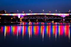 Minneapolis I-35W Bridge • Rainbow Colors • Twin Cities Pride (Tony Webster) Tags: bridge gay reflection minnesota rainbow minneapolis glbt pride lgbt mississippiriver gaypride gayrights rainbowcolors lgbtpride twincitiespride tcpride glbtpride mndot 35wbridge ccbysa20150110 cgo1511