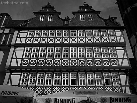 Beautiful restored half-timbered houses around the Römerberg.