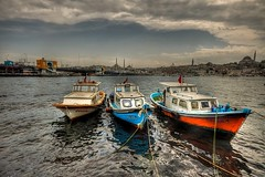 Istanbul (Nejdet Duzen) Tags: city trip travel sea cloud turkey boat trkiye istanbul deniz sandal karaky bulut galatabridge turkei seyahat galatakprs ehir thebestofday gnneniyisi saariysqualitypictures mygearandme