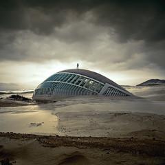 The Beginning of an End (swinspeed) Tags: sky man building art clouds digital desert manipulation beginning end swinspeed