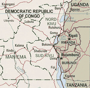 Map of Eastern DRC