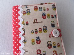 Capa para Agenda A6 (A.casa.do.Guaxinim) Tags: notebook agenda notepad capaparaagenda