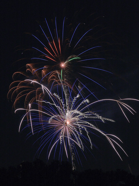 Fireworks, near Jefferson Barracks Park, in Lemay, Missouri, USA - 3