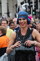 London Gay Pride (ec1jack) Tags: uk blue gay party summer england london festival drag britain trafalgarsquare july pride parade queen 2nd event wig flapper 2011 kierankelly ec1jack canoneos600d 2ndjuly2011