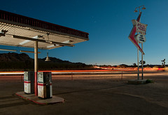 Gas Food Lodging (Noel Kerns) Tags: california lake set night movie four los pumps desert angeles gas mojave aces