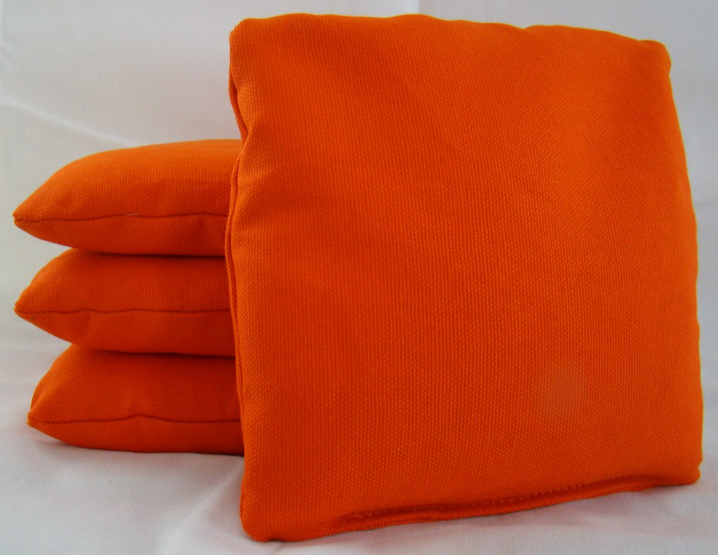 Orange Cornhole Bags