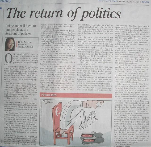 the return to politics